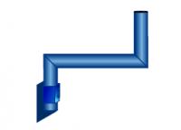 Кронштейн Скарабей S-образный 0,5 м